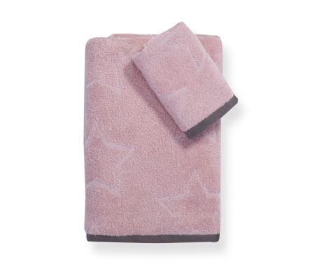 Σετ πετσέτες Super star pink Junior Towels Collection - Nef-Nef
