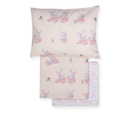 Σετ σεντόνια κούνιας 3(τμχ) Bunny ladies Baby Collection - Nef-Nef