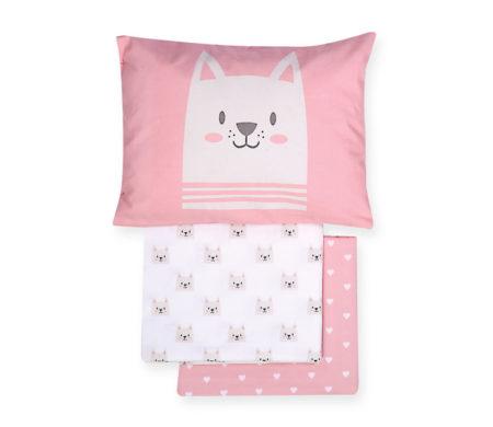 Σετ σεντόνια κούνιας 3(τμχ) Cat Baby Collection - Nef-Nef