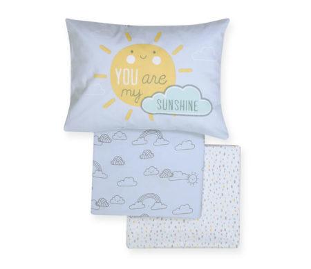 Σετ σεντόνια κούνιας 3(τμχ) Sunshine Baby Collection - Nef-Nef