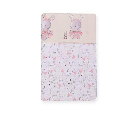 Σετ σεντόνια λίκνου 70*120 Bunny ladies Baby Collection - Nef-Nef