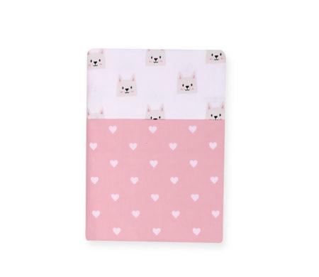 Σετ σεντόνια λίκνου 70*120 Cat Baby Collection - Nef-Nef