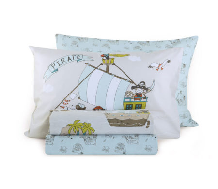 Σεντόνια μονά 160x260 σετ 3(τμχ) Sail like a pirate Junior Collection - Nef-Nef