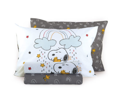 Σεντόνια μονά 160x260 σετ 3(τμχ) Snoopy rainbow Junior Collection - Nef-Nef