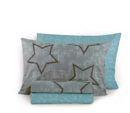 Σεντόνια μονά 160x260 σετ 3(τμχ) Super star grey Junior Collection - Nef-Nef