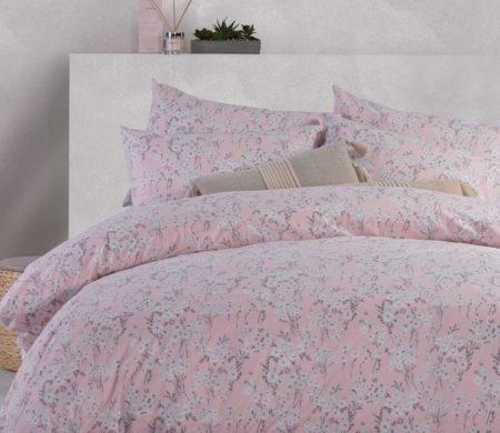 Σεντόνια Υπέρδιπλα 240x260 σετ 4 τμχ Carmen Pink Smart Line Collection - Nef-Nef