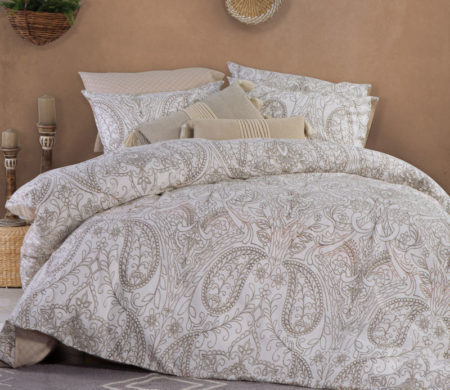 Σεντόνια King Size με λάστιχο 180x200+32 σετ 4 τμχ Victoria Beige Smart Line Collection - Nef-Nef