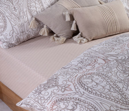 Σεντόνια διπλά 200x260 σετ 4 τμχ Victoria Beige Smart Line Collection - Nef-Nef