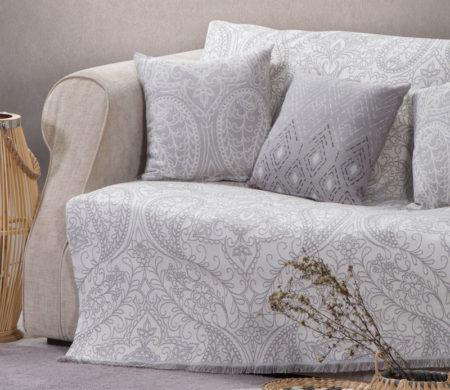 Ριχτάρι τριθέσιου καναπέ 170x300 Victoria Grey Living Room Collection Nef-Nef