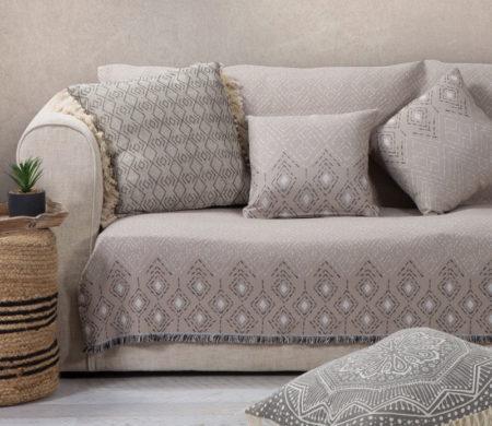 Ριχτάρι διθέσιου καναπέ 170x250 Warren Beige Living Room Collection - Nef-Nef