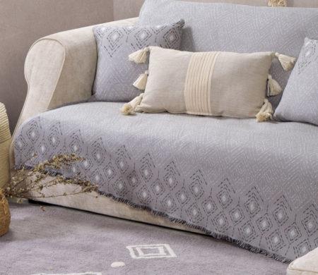 Ριχτάρι τριθέσιου καναπέ 170x300 Warren Grey Living Room Collection - Nef-Nef