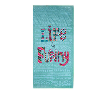 Πετσέτα θαλάσσης microfiber (75x150) Life is Funny Beach Collection - Nef-Nef