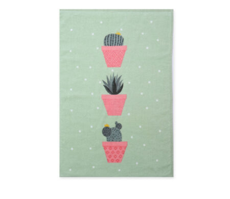Πετσέτα κουζίνας βελουτέ (40x60) Cactus Green Kitchen Collection - Nef-Nef