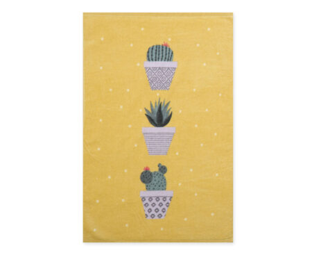 Πετσέτα κουζίνας βελουτέ (40x60) Cactus Mustard Kitchen Collection - Nef-Nef