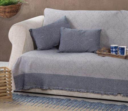 Ριχτάρι τριθέσιου καναπέ 170x300 Mengris Blue Living Room Collection Nef-Nef