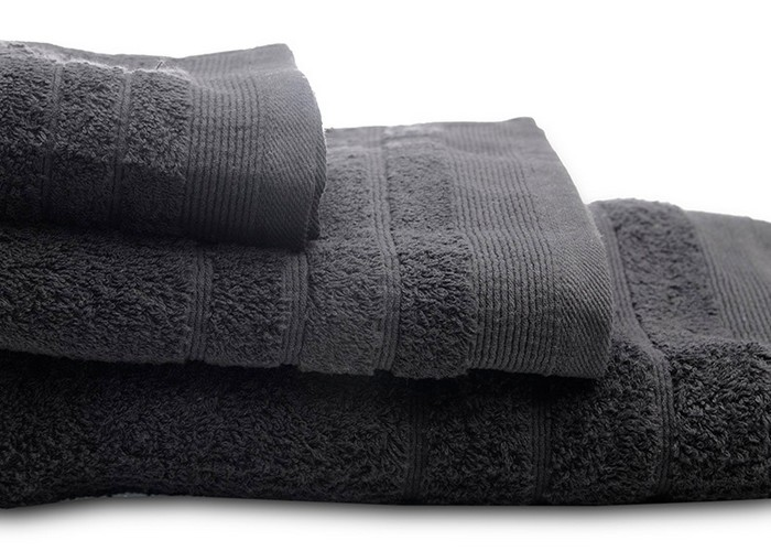Πετσέτες μπάνιου (σετ 3τμχ) sunshine 500gsm black 15