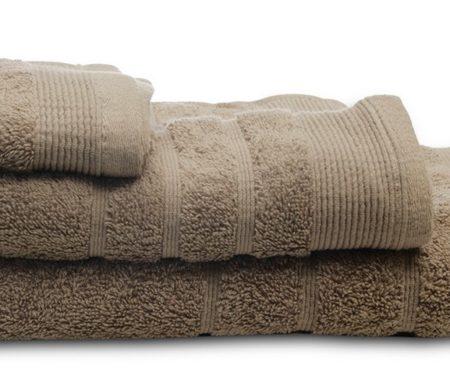 Πετσέτες μπάνιου (σετ 3τμχ) sunshine 500gsm mocha 08