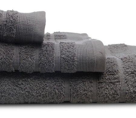 Πετσέτες μπάνιου (σετ 3τμχ) sunshine 500gsm grey 09