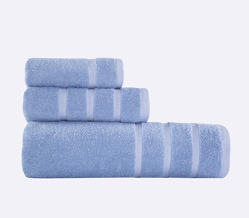 Πετσέτες Σετ (3τμχ) Madison Blue/White Bath collection - Nef-Nef