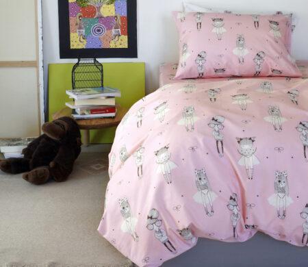 Παιδικές μαξιλαροθήκες (Σετ 52Χ72) Melinen Cute Pink