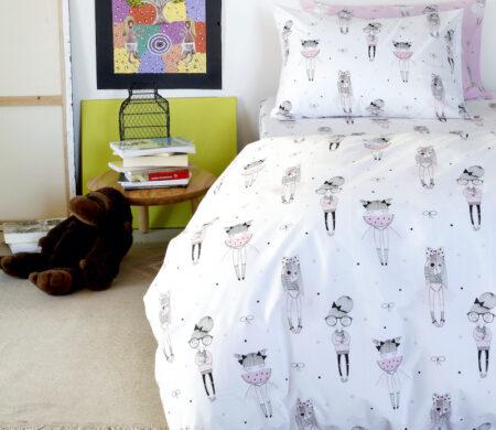 Παιδικές μαξιλαροθήκες (Σετ 52Χ72) Melinen Cute White