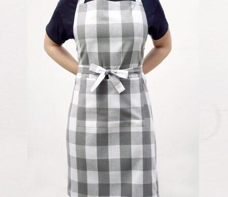 Ποδιά Κουζίνας (60Χ76) Melinen Big Check Grey