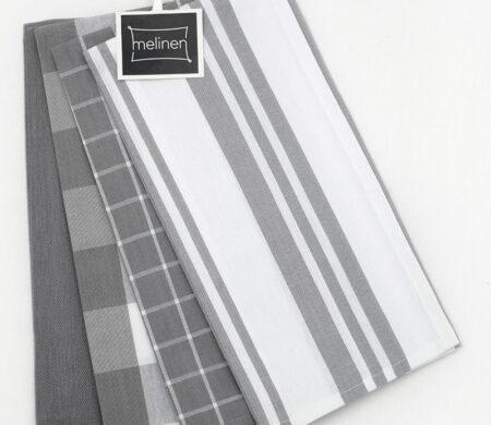 Ποτηρόπανα (Σετ 4τμχ) Melinen Mix Grey