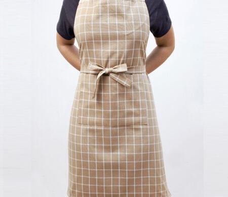 Ποδιά Κουζίνας (60Χ76) Melinen Small Check Beige
