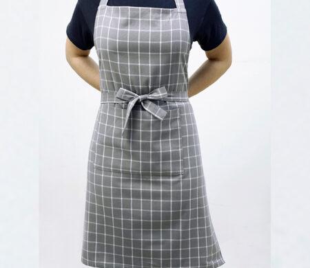 Ποδιά Κουζίνας (60Χ76) Melinen Small Check Grey