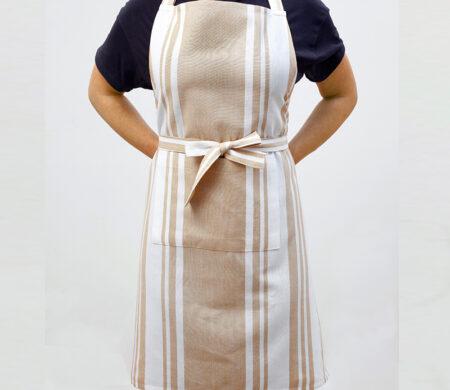 Ποδιά Κουζίνας (60Χ76) Melinen Stripes Beige