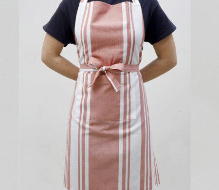 Ποδιά Κουζίνας (60Χ76) Melinen Stripes Apple