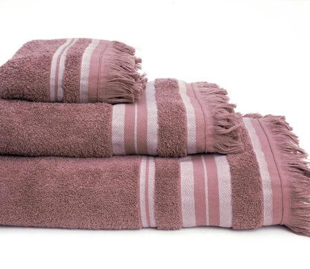 Πετσέτες Μπάνιου (Σετ 3τμχ) Melinen Yoga Ριγέ Apple