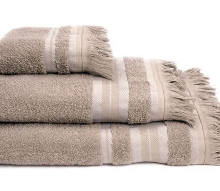 Πετσέτες Μπάνιου (Σετ 3τμχ) Melinen Yoga Ριγέ Beige