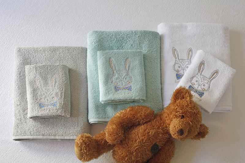 Βρεφικές Πετσέτες (Σετ 2τμχ) Melinen Bunny Aqua