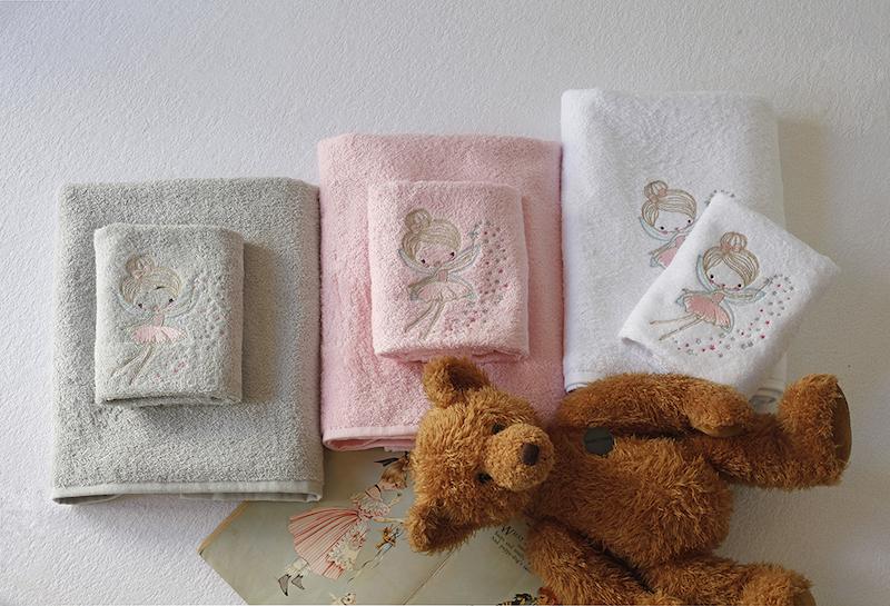 Βρεφικές Πετσέτες (Σετ 2τμχ) Melinen Fairy Grey
