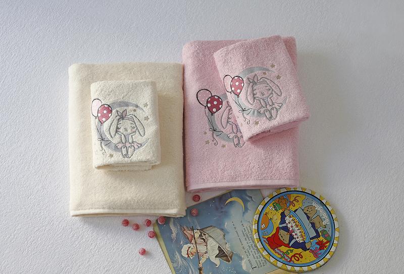 Βρεφικές Πετσέτες (Σετ 2τμχ) Melinen Moon Pink
