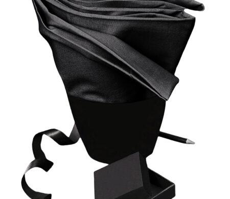 Σεντόνι Διπλό-Υπέρδιπλο με Λάστιχο (160Χ200+30cm) Μονόχρωμο Black Melinen Urban