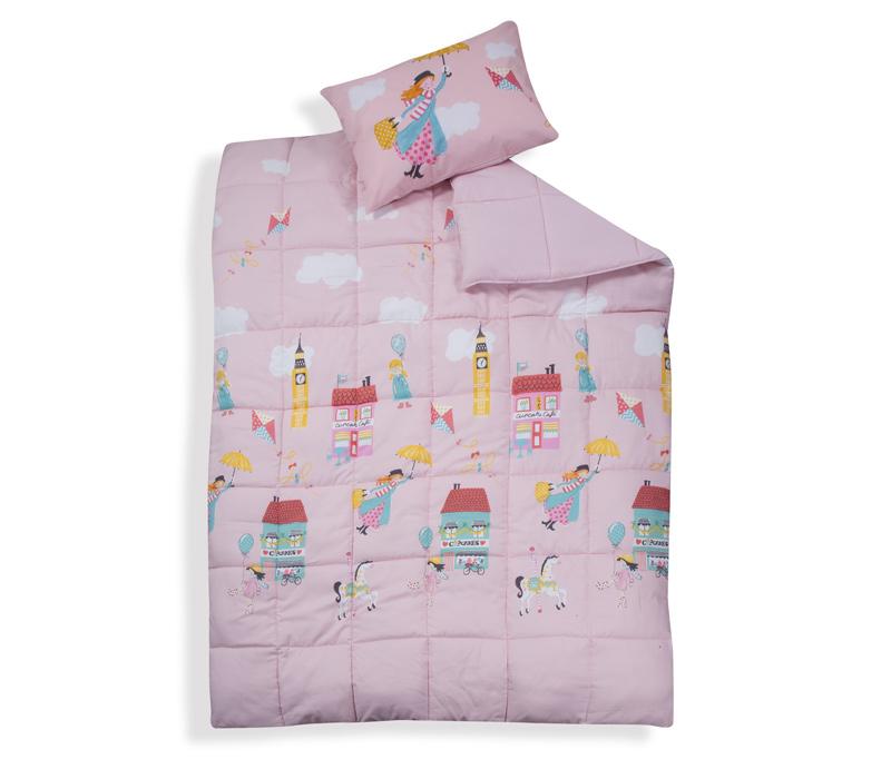 Παιδικό Πάπλωμα Μονό 160Χ220 Nef Nef Κορίτσι Mary Poppins Pink