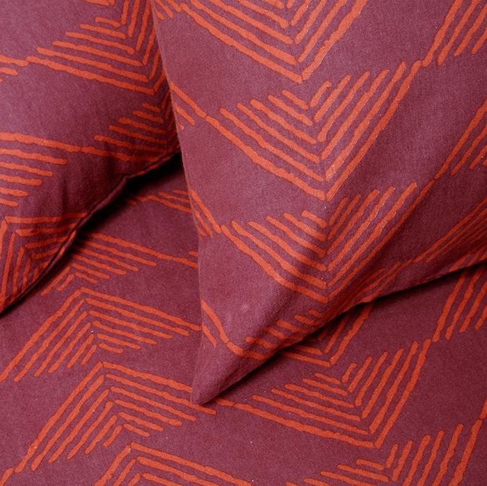 Μαξιλαροθήκες Φανελένιες (Σετ 2 τμχ) 50Χ70 Melinen Prado Burgundy