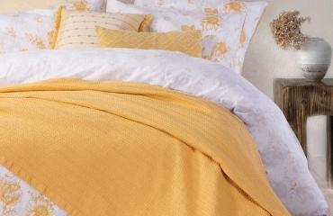 κίτρινη-ανοιξιάτικη-κουβέρτα-nefnef